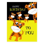 Postal del feliz cumpleaños del tigre