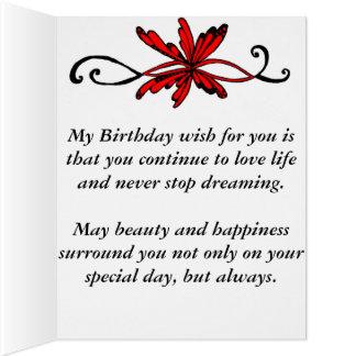 Postal del feliz cumpleaños tarjeta de felicitación grande