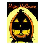 "Postal del ""feliz Halloween"" de la linterna del o"