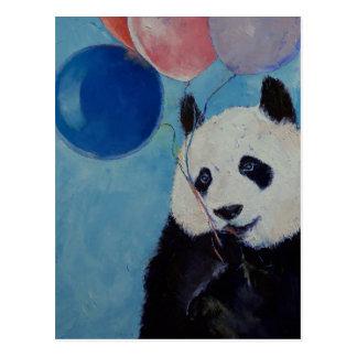Postal del fiesta de la panda