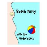 Postal del fiesta de la playa