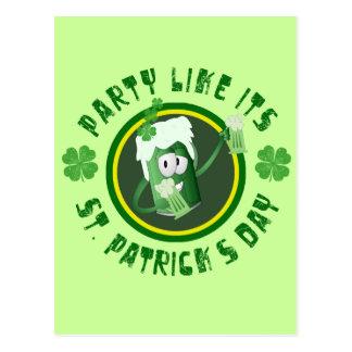 Postal del fiesta del día de St Patrick