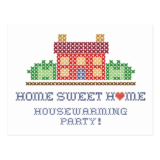 Postal del fiesta del estreno de una casa