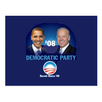 Postal del fiesta Democratic