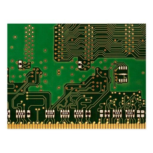 postal del fondo de la placa de circuito