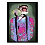 Postal del Fox del geisha