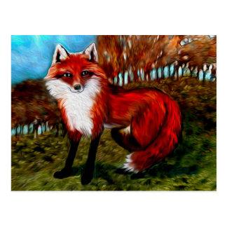 Postal del Fox rojo