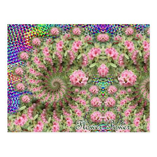 Postal del fractal del flower power