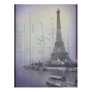 Postal del francés de la feria de mundo de París