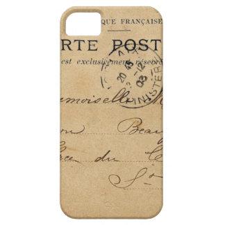 Postal del francés del vintage iPhone 5 funda