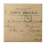 Postal del francés del vintage teja