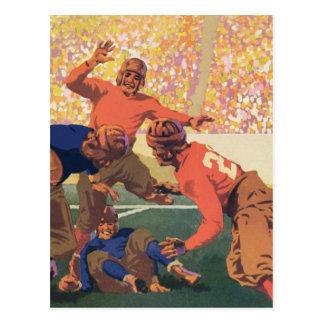 Postal del fútbol del vintage