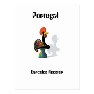 Postal del gallo de Barcelos
