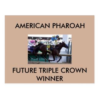 Postal del ganador del Triple Crown de Pharoah del