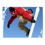 Postal del gancho agarrador de la snowboard