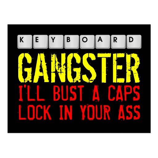 Postal del gángster del teclado