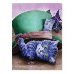 Postal del gatito de Cheshire