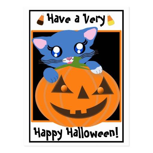 Postal del gatito de Toon de la calabaza de Skye