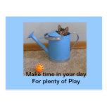 Postal del gatito del juego