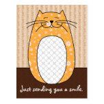 """Postal del """"gato anaranjado"""""""
