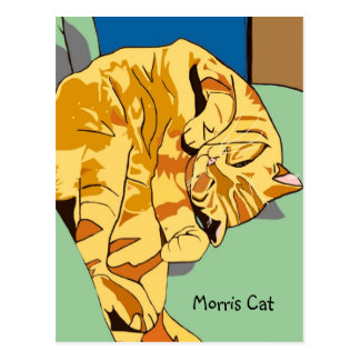 Postal del gato de Morris