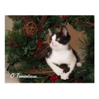 Postal del gato de O Tannenbaum