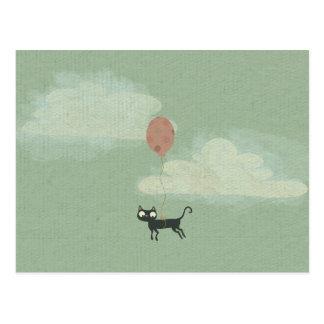 Postal del gato de vuelo