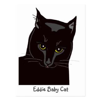 Postal del gato del bebé de Eddie
