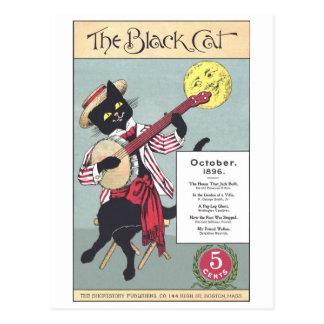 Postal del gato negro
