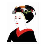 Postal del geisha