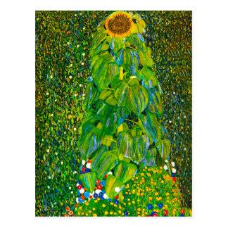 Postal del girasol de Gustavo Klimt