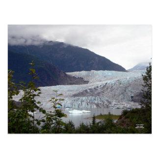 Postal del glaciar de Mendenhall