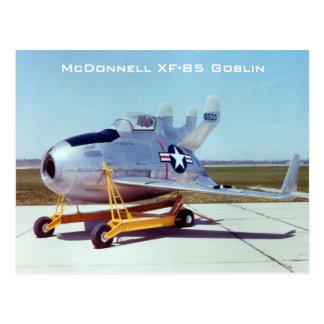 Postal del Goblin de McDonnell XF-85