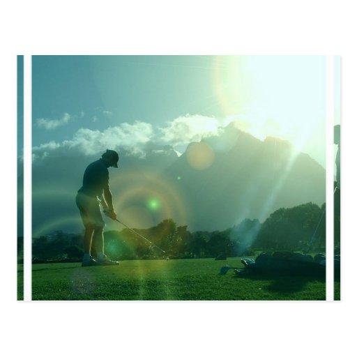 Postal del golfista