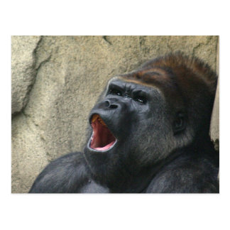 Postal del gorila del canto