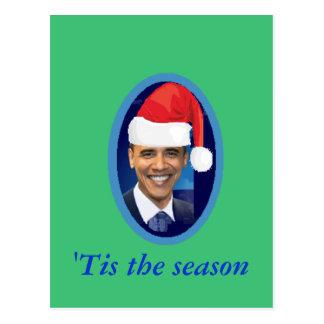 Postal del gorra de Santa