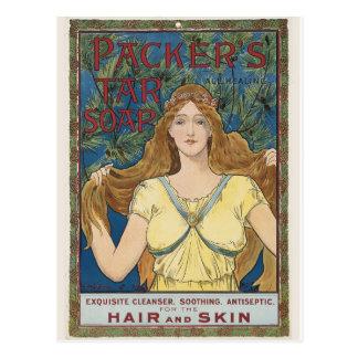 Postal del gráfico del anuncio del vintage