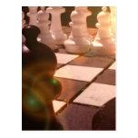 Postal del Grandmaster del ajedrez