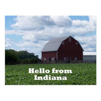 Postal del granero de Indiana