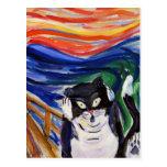 Postal del grito del gatito