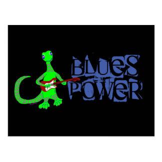 Postal del guitarrista del lagarto del poder de