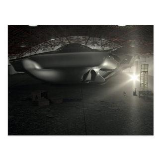 Postal del hangar del UFO de Roswell