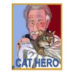 """""""Postal del héroe del gato"""""""