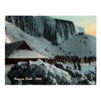 Postal del hielo de Niagara Falls del vintage