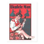 Postal del hombre del Ukulele