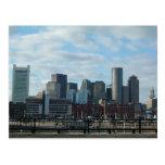 Postal del horizonte de Boston