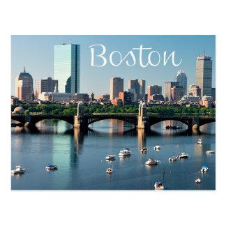 Postal del horizonte de Boston, Massachusetts - de