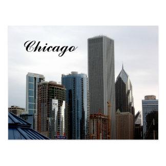 Postal del horizonte de Chicago