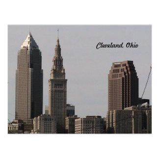 Postal del horizonte de Cleveland Ohio
