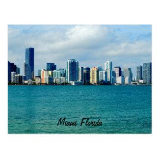 Postal del horizonte de Miami